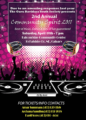 Community sprit Poster design